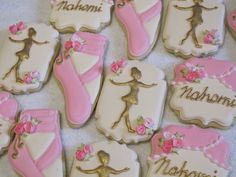 Ballet Ballerina Slippers Decorated Sugar Cookies by MartaIngros