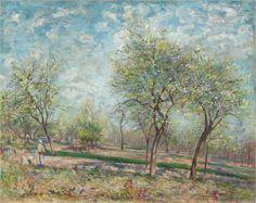 Apple Trees in Bloom - Alfred Sisley, 1880, Impressionism, National Gallery of Canada, Ottawa, Canada