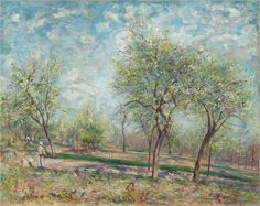 Apple Trees in Bloom - Alfred Sisley, 1880, Impressionism, National Gallery of Canada, Ottawa, Canada