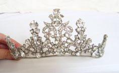 every princess needs a tiara- haha! I don't know that I could ever see myself wearing a tiara at my wedding, but this is beautiful nonetheless!
