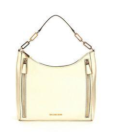 77d4a6c5dc07 MICHAEL Michael Kors Matilda White Leather Large Shoulder Bag Purse New    MichaelKors  ShoulderBag