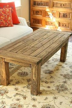 15 Reclaimed DIY Coffee Tables | DIY and Crafts. Love it...would it look ok if I had to use different wood to bring it together?