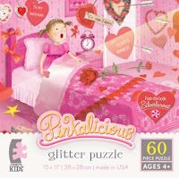 """60-piece magical glitter jigsaw puzzle featuring scenes from Silverlicious. Available at Barnes & Noble, FAO.com, and Toys """"R"""" Us ."""