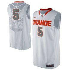 Nike Syracuse Orange #5 Authentic Performance Basketball Jersey - White