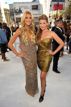 """Stephanie Pratt and Lo Bosworth of MTV's """"The Hills"""" photographed on the red carpet at the 2010 MTV Video Music Awards in Los Angeles."""
