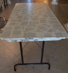 Book page covered table!  Easy