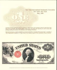 B195 BEP Souvenir Card 1995 New York International Numismatic 1917 $1