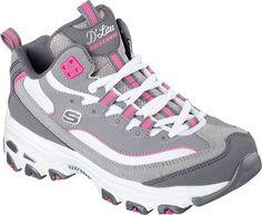 Skechers D'Lites D'Liteful Womens Sneakers Charcoal/Pink 7 - http://all-shoes-online.com/skechers-3/7-b-m-us-skechers-sport-womens-dlites-memory-foam-up-16