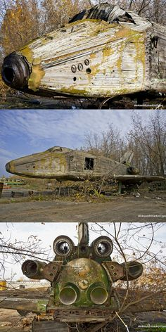 This Giant Abandoned Soviet-era Spaceship Made of Wood Looks Like the Ultimate Children's Playground Feature