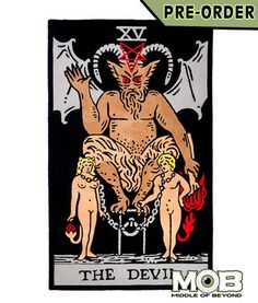 Devil Tarot Card Rug – middleofbeyond I found our new rug! ha!