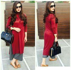 #pintrest@Dixna deol Pakistani Dresses, Indian Dresses, Indian Outfits, Western Outfits, Stylish Dresses, Casual Dresses, Fashion Dresses, Funky Dresses, Casual Wear