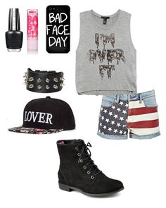 """""""Idk"""" by nafisashb ❤ liked on Polyvore featuring Forever 21, Sperry and Local Heroes"""