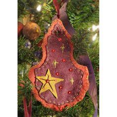 Décorations du sapin, Patron Victorian Christmas, feutrine de laine Cinnamon Patch