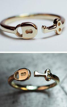 Lock + Key Ring