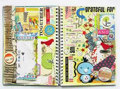 journal idea, books, smashbook, smash book, art journals, alteredart journal, book pages, journal inspir, gratitude