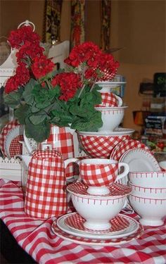 Red and white gingham ~ who doesn't love it?