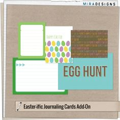 Easter-ific journal cards freebie from Mira Designs #projectlife #printable