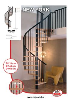 Lépcső, csigalépcső, fémlépcső, falépcső, falétra | Regős & Regős Faipari Kft. New Orleans, New York, Denver, Orlando, Bali, Madrid, Stairs, Home Decor, New York City