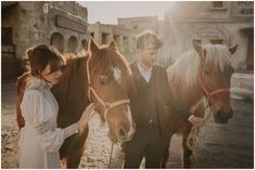 Victorian Old West Wedding Inspiration — Pablo Laguia Old West, Hair Pieces, Wedding Styles, Spain, Wedding Inspiration, Victorian, Horses, Wedding Dresses, Floral