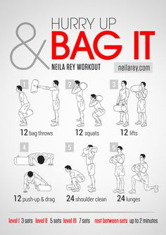 Hurry Up And Bag It! Workout