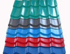 De Buena Calidad CGCC, DX51D zincado blanco, rojo, azul PRE pintado corrugado acero techo hojas / hoja Venta
