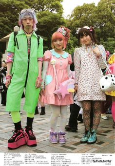 Harajuku Kids. They have their own style. Go to Yoyogi Park in Harajuku on a Sunday for a view.