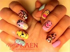 Winnie the Pooh Manicure! @Sarah Wang you may just have to do this...