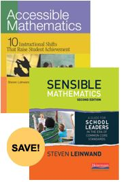 Accessible Mathematics and Sensible Mathematics 2/e Bundle by Steven Leinwand - Heinemann Publishing