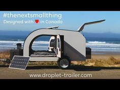 Welcome to DROPLET. This beautiful little teardrop camper trailer was specifically engineered to be comfortably towed by smaller vehicles. Inspired by Scandinavian design, designed with ♥ in Canada, the DROPLET is simplistic, light, roomy and durable.