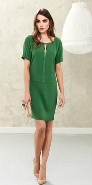 Green summer dress.