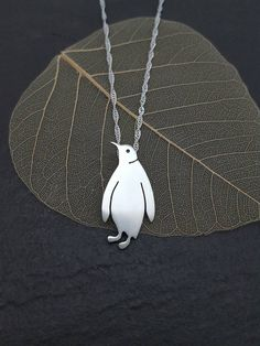 Sterling silver Penguin by AnnaAncellJewellery on Etsy