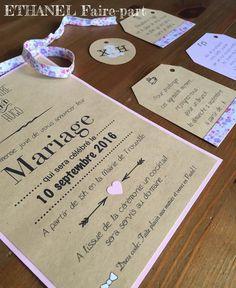 Faire-part mariage Liberty