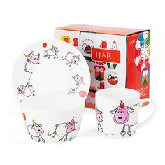 [ IJARL · Yijia ] the German fashion design 3 sets of children's bone china tableware sheep-$11.50