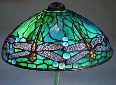 A Tiffany lamp is a style of lamp originally crafted. Dust, dirt and grime can dim that light, so Tiffany lamp shades will need regular cleaning. Tiffany Ceiling Lights, Ceiling Lamps, Tiffany Lamp Shade, Hanging Stained Glass, Studio Lamp, Lamp Inspiration, Art Deco Lamps, Chandelier Pendant Lights, Crystal Chandeliers
