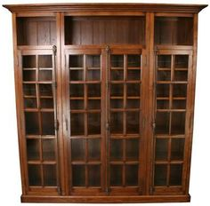 Modern shaker 2 glass door bookcase shown in natural walnut wood new oak bookcase four glass doors antique style cremone locks display shelf planetlyrics Image collections