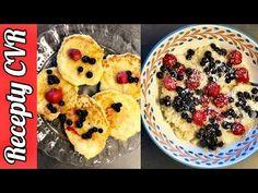 Recepty CVR - Pšenové placky a pšenová kaša / Millet pancakes, millet sweet mash - YouTube Pancakes, Muffin, Breakfast, Fitness, Sweet, Youtube, Food, Gymnastics, Meal