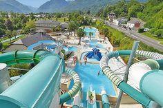 Camping Les Trois Vallées - Pyreneeën - Argelès-Gazost - heel goede reviews, dichtbij stadjes, in de bergen, zwembaden met glijbanen
