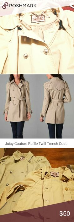 Juicy Couture Long Trench Coat Juicy trench coat. Long. size xl. Juicy Couture Jackets & Coats Trench Coats
