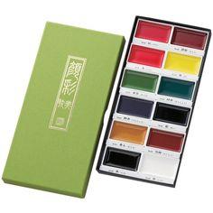 Kuretake Gansai Tambi Water Colours - 12 Color Set