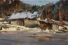 The Last Winter Day by Tibor Nagy Oil ~ 11,8 x 17,7