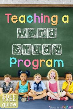 Calling all preschool, primary, and Kindergarten teachers! This post is for you! It explains how to teach a word study program to children using sight words, phonics and word family instruction, morning messages and meetings, and more. Includes FREE print