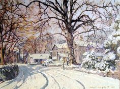 Boxing Day snow, Grasmere, by Bob Henfrey, painter - sketcher