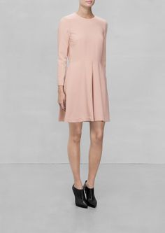 & Other Stories | Cropped Sleeve Dress | Pink Nude
