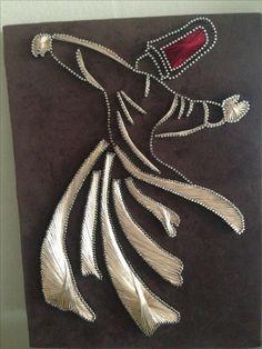 String Crafts, Paper Crafts, Arte Linear, African Art Paintings, Madhubani Art, Thread Art, Diy Wall Art, Stone Art, Islamic Art