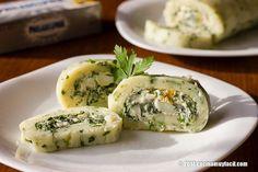 Rollo de papa con espinacas. Receta | cocinamuyfacil.com