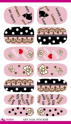 Fashion Nail Sticker Cute Hello Kitty Design Manicure Decals Minx Nails Decoration Tools Water Transfer…