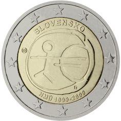 Monedas 2 € conmemorativas - 10 años EMU 2009 - Eslovaquia 2 euros 2009