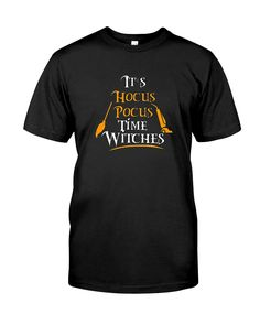 CHECK OUT OTHER AWESOME DESIGNS HERE! This Halloween Festive Shirt Hocus Pocus Time Witches Tee is a great for all events leading up to and including Halloween. Makes a great gift for a friend or family who is in the festive Halloween Spirit and sport a great humor. Makes a great gift! Makes a great gift for Halloween or Christmas. This It's a Hocus Pocus Time Shirt is designed and printed to be fitted. For a looser fit, please order a size up.