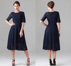 Wholesale cheap mother's dresses online, misses - Find best custom plus size navy blue lace mother of the bride dresses with half sleeves wedding party gowns tea length mother of the groom dress cheap at discount prices from Chinese mother's dresses supplier on DHgate.com.