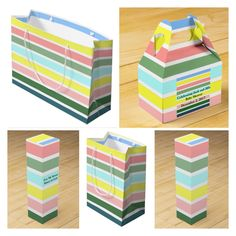 Pastel stripes gift packaging including tissue paper! by Khoncepts.